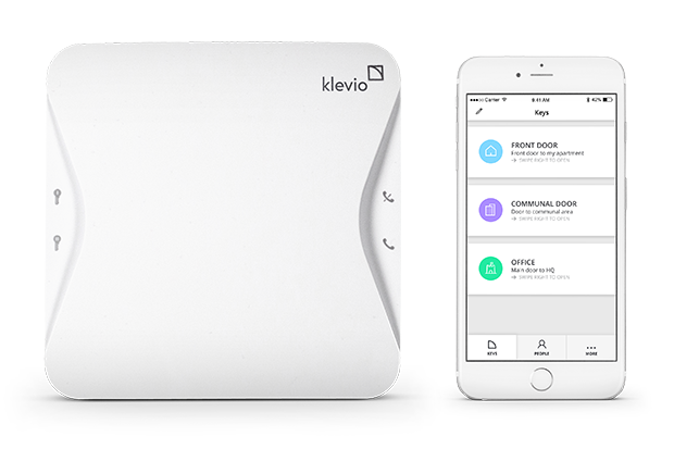Klevio device and phone application